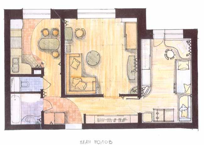 Проекты квартир дизайн фото 2-х